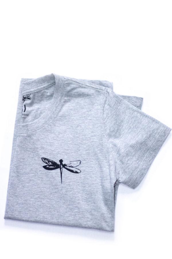 Camiseta Dádiva Libélula Cinza