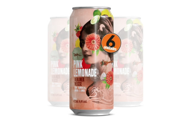 Pack com 6 Dádiva Pink Lemonade 473ml