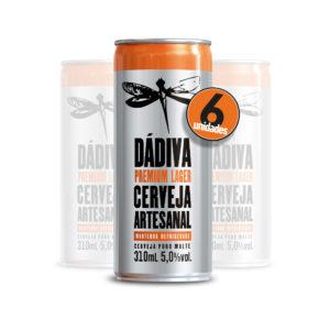 Pack com 6 Dádiva Premium Lager 310ml